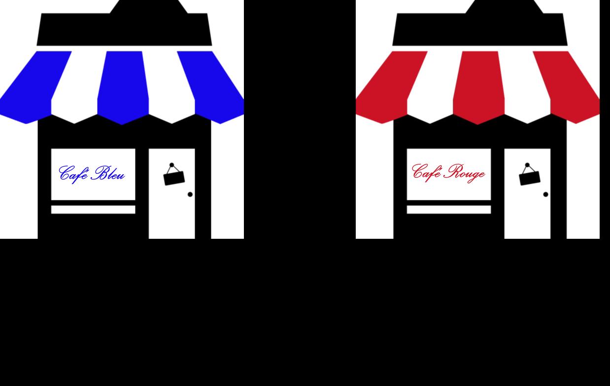 Cafe Bleu Rouge